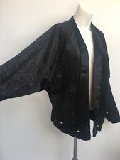Vintage black glitter batwing tuxedo jacket 1980's Ladies size 10-12 medium