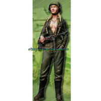 Unpainted 1/16 Scale 120mm Garage Kits Resin Female Soldier Figure Model Statue