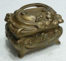 Beau COFFRET / Boite à Bijoux en Régule doré - Art Nouveau c.1900