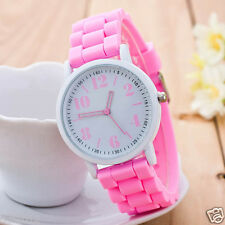 Women Watches Ladies Girl's Silicone Band Analog Quartz Sport Wrist Watches New