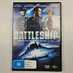Battleship DVD Taylor Kitsch, Rihanna, Liam Neeson Region 2,4,5 Track Post