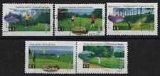 t385) Canada. 1995. Used. SG1637 to 1641 43c Golf Courses