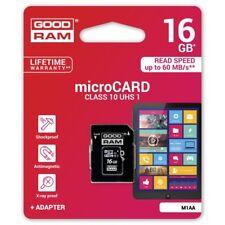 Scheda Di Memoria Memory Card Microsd 16GB + Adattatore Sd Classe 10 linq