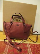 Coach Mini Kelsey Crossbody Purse Bag Leather Metallic Pink NWT