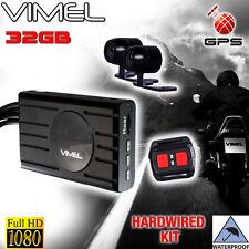 Bike Camera Vimel Motorcycle 32GB GPS 1080 Twin Dual Motorbike Super Capacitor