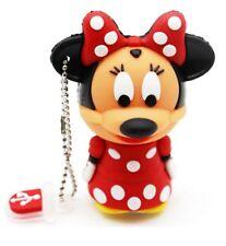 8 GB Minnie Mouse USB 2.0 Flash Pen Drive Tarjeta de memoria Nueva Historieta Mickey 8 GB