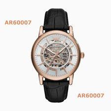 New Emporio Armani Men's Automatic Black Leather Strap Watch AR60007