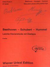 Beethoven - Schubert - Hummel - Leichte Klavierstücke mit Übetipps