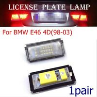2PCS 6500K 18 LED License Number Plate Light Lamp For BMW E46 4D 1998-2003