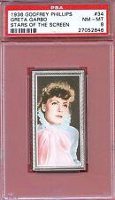 1936 Stars of the Screen Card #34 GRETA GARBO Anna Karenina Actress PSA 8
