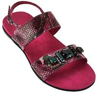 Vionic By Orthaheel Women's Dupre Raspberry Snake Sandals Size 7M