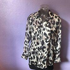 EQUIPMENT FEMME Signature Tomcat Sheer Button Down Blouse Silk Shirt XS SEXY