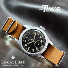 1940's TIMOR Swiss Dirty Dozen WWW MOD WW2 Vintage Military Watch AS Cal. 1203