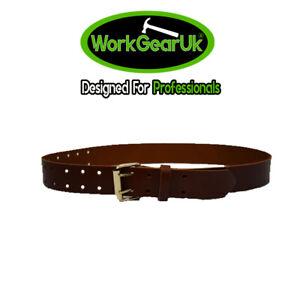 """WorkGearUK Tool Belt 2"""" Leather Heavy Duty Dark Tan WG-PX44"""
