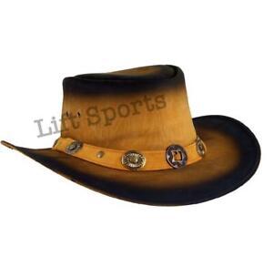 New Men's Stylish Cowboy Hat Western Original Genuine Cow Hide Leather