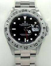 Rolex Explorer II 16570 GMT Stainless Steel Black Dial Watch *MINT CONDITION*