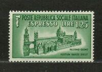 s33553 ITALIA RSI 1944 MNH Espresso L.1,25 Duomo Palermo 1v