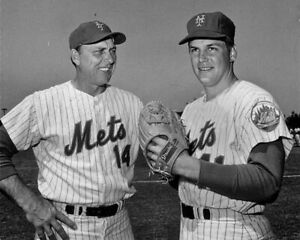 "Tom Seaver & Gil Hodges - 8"" x 10"" Photo- 1969 World Series Champs New York Mets"