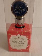Hallmark wine bottle stopper topper cork bachelorette party gift GET UNCORKED