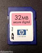 HP 32MB SD secure digital flash memory card Sandisk