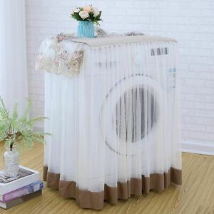 60*60*85cm Washing Machine Dust Proof Protector Floral Lace Cover Home Decor