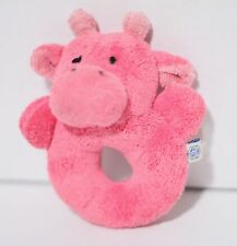 """Pottery Barn Kids 5"""" Pink Cow Rattle Plush Toy"""