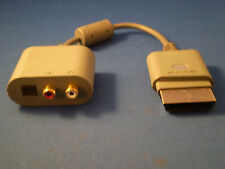 New OEM Official Microsoft Optical Audio Adapter Cables For XBox 360 - OFFICIAL!