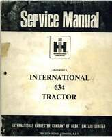 McCormick International Tractor 634 Workshop Manual
