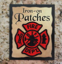Fire-fighter patch Dept Rescue house 911 Man Woman EMT EMS Iron-on or sew on