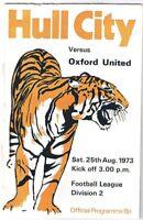 Hull City v Oxford United 1973/4
