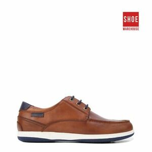 Hush Puppies DUSTY Brown Mens Lace-up Casual Leather Shoes