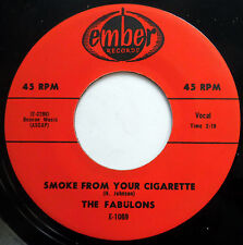 FABULONS 45 Smoke From Your Cigarette / Give Me Back NEAR MINT Doo Wop mg761