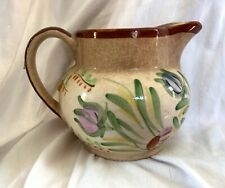 """Vintage Blue Ridge Southern Pottery, """"Helen"""" Antique Pitcher, Hand painted USA"""