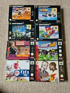 Nintendo 64 Game Boxes & Manuals ONLY - Mario/Star Wars/Waverace - PAL - N64
