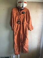 Vintage Pilots Flight Suit with Helmet and Bomber Jacket Size 40 & Misc. Items