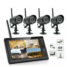 """Wifi 7"""" TFT-LCD Monitor Wireless 4CH Quad DVR + 4 IR Camers Home Security System"""