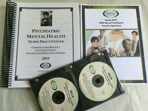2019 Barkley Psychiatric nurse book & CDS  mental health and 100 q practice test