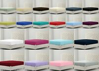 Percale Fitted Bed Sheets 30CM Box Cotton Rich 180TC Single Double King S/King