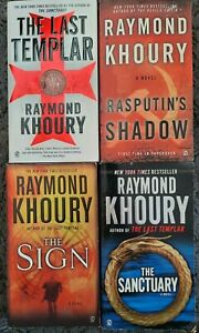 RAYMOND KHOURY THRILLER ACTION ADVENTURE PB 4 BOOK LOT RASPUTINS TEMPLAR SIGN