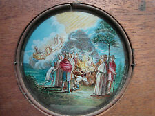 Rare antique hand painted diapositive