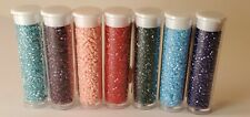 Miyuki Delica 11/0 Seed Beads Lot of 7 color set in new 7.2g tubes. Free Ship