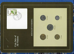 Coin Sets of All Nations Ethiopia w/card All 1977 UNC rare stamp 22.10.1990