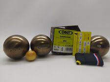 3 Boules de Pétanque OBUT ATX Compétition 74mm 700g Stries 0 + Marquage - NEUVES