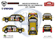 FFSMC Productions Decalcomanie 1/18 Lancia Delta HF Integrale 16V Grifone