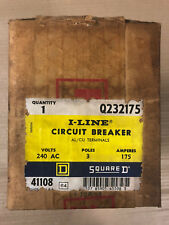 New Square D Q2 Q232175 3 Pole 175 Amp 240V Circuit Breaker