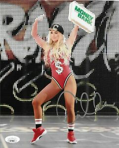 CARMELLA WWE DIVA MONEY IN THE BANK SIGNED AUTOGRAPH 8X10 PHOTO #6 W / JSA COA