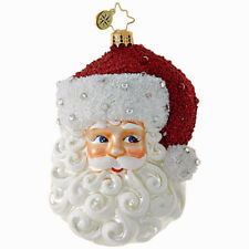 New 2018 Christopher Radko 'SIMPLY FABULOUS' Santa Christmas Ornament 1018778