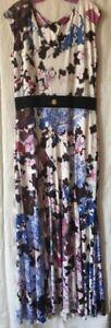 NEW Stretch R CAVALLI Maxi Floral Dress  XL, IT 48, US 12,14