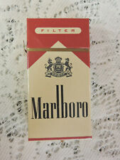 Vintage Marlboro Red Box 10 Cigarette Hard Pack EMPTY Display Only Clinton 125