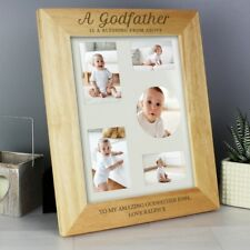 Personalised GodParents Wooden Photo Frames - Godfather Godmother Christening